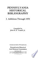 Pennsylvania Historical Bibliography