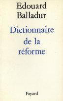 Pdf Dictionnaire de la réforme Telecharger