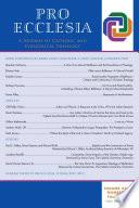 Pro Ecclesia Vol 24-N4