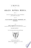 A Manual of Organic Materia Medica ...