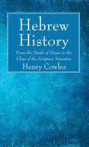 Hebrew History Pdf/ePub eBook