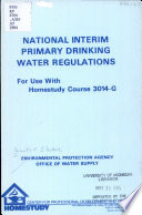 National Interim Primary Drinking Water Regulations
