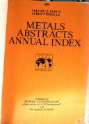 Metals Abstracts Book PDF