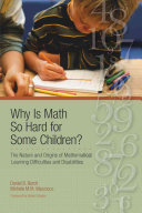 Why is Math So Hard for Some Children  Book
