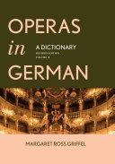 Operas in German