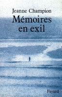 Pdf Mémoires en exil