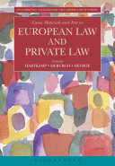 Cases  Materials and Text on European Law and Private Law