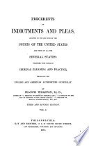 Precedents of Indictments and Pleas