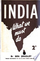 India, what We Must Do