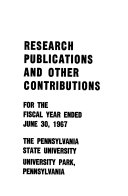 Research Publications And Professional Activities