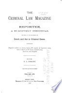 The Criminal Law Magazine and Reporter Book
