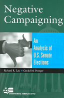 Negative campaigning: an analysis of U.S. Senate elections
