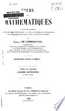 Cours de Mathematiques