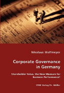 Corporate Governance in Germany Book