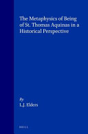 The Metaphysics of Being of St  Thomas Aquinas