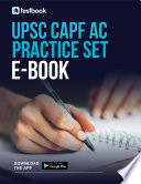 UPSC CAPF AC Practice Set 2021   Download Free Solutions in PDF