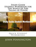Study Guide Student Workbook for the Wings of Fire Talons of Power