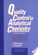 Quality Control in Analytical Chemistry
