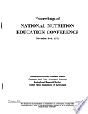 Proceedings of National Nutrition Education Conference  November 2 4  1971  Washington  D C
