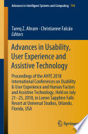 Advances in Usability  User Experience and Assistive Technology Book