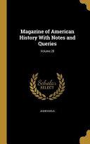 Magazine Of Amer Hist W Notes