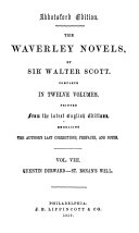 The Waverley Novels: Quentin Durward. St. Ronan's well