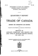 Report of the Trade of Canada