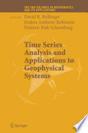 Time Series Analysis And Applications To Geophysical Systems Book PDF