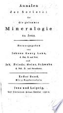 Annalen ... Herausgegeben von J. G. Lenz, und J. F. H. Schwabe