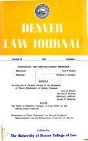 Denver law journal