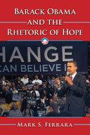 Barack Obama and the Rhetoric of Hope Pdf/ePub eBook
