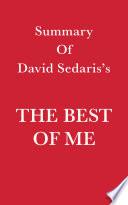 Summary of David Sedaris s The Best of Me