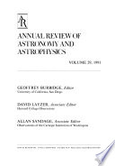 Annual Review of Astronomy and Astrophysics