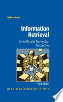 Information Retrieval A Health And Biomedical Perspective Book PDF