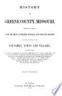 History of Greene County, Missouri