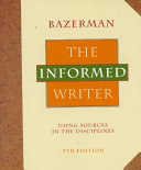 The Informed Writer Instructors Manual