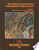 Processes in Continental Lithospheric Deformation Book