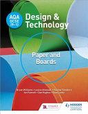 Books - Aqa Gcse (9-1) Design And Technology | ISBN 9781510401099
