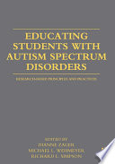 Educating Students with Autism Spectrum Disorders Book