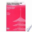 Proceedings Of The 22nd International Congress Of Applied Psychology Social Educational And Clinical Psychology