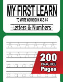 My First Learn to Write Workbook Age 3 5