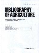 Bibliography Of Agriculture Annual Cumulation 1990 Book PDF