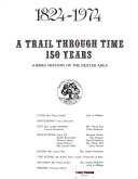 1824-1974: a Trail Through Time, 150 Years, a Brief History of the Dexter Area