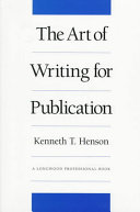 The Art of Writing for Publication Book