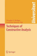 Techniques of Constructive Analysis