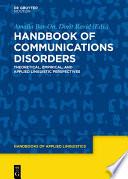 Handbook of Communication Disorders Book PDF