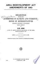 Area Redevelopment Act Amendments of 1963