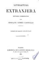 Literatura extranjera ; estudios cosmopolitas