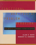 Functional Analysis of Problem Behavior Book