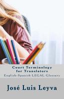 Court Terminology for Translators